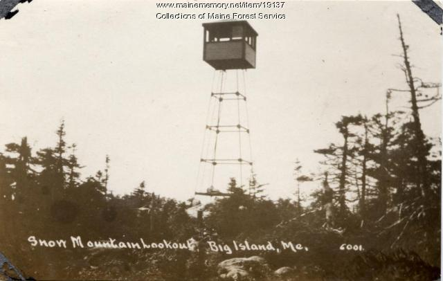 Forest Service fire lookout, Snow Mountain, ca. 1920