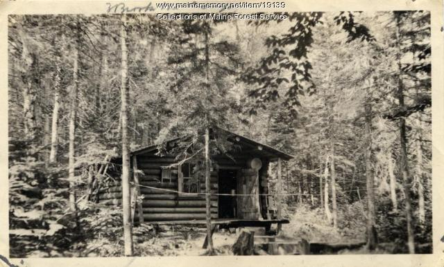 Three Brooks Mountain fire watchman camp, ca. 1920