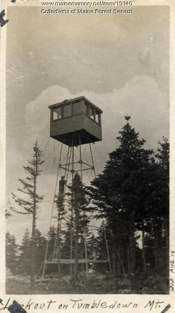 Forest Service lookout, Tumbledown, 1915