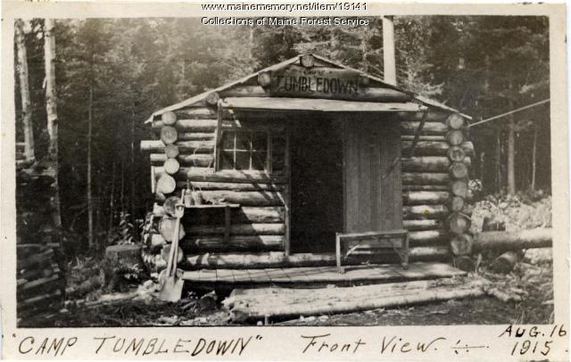 Fire watchman camp, Tumbledown, 1915