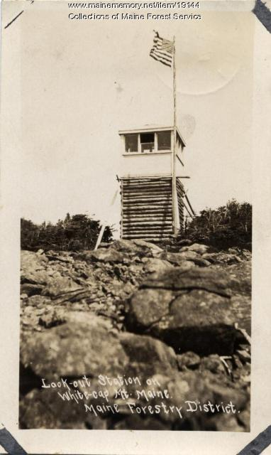 Fire lookout station, White Cap Mountain, ca. 1920