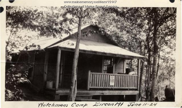 Watchman's camp, Zircon Mountain, 1924