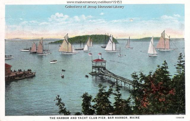 Harbor and Yacht Club Pier, Bar Harbor, ca. 1933