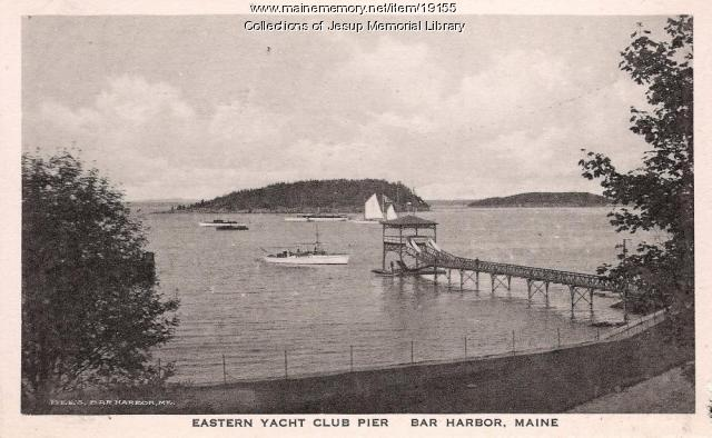 Eastern Yacht Club Pier, Bar Harbor, ca. 1900