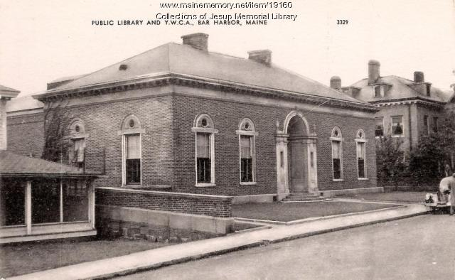 Public Library, Bar Harbor, ca. 1935