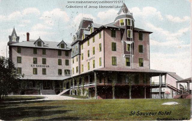 St. Sauveur Hotel, Bar Harbor, ca. 1908