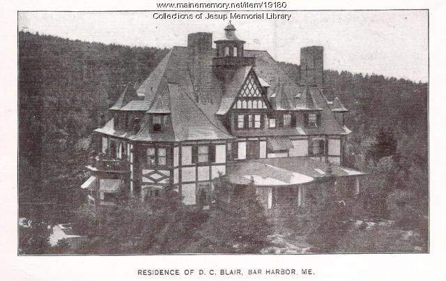 Residence of D. C. Blair, Bar Harbor, ca. 1900