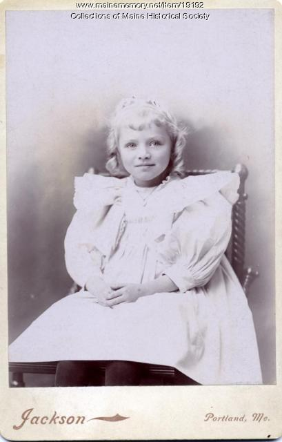 Christine Johnson, Portland, ca. 1895