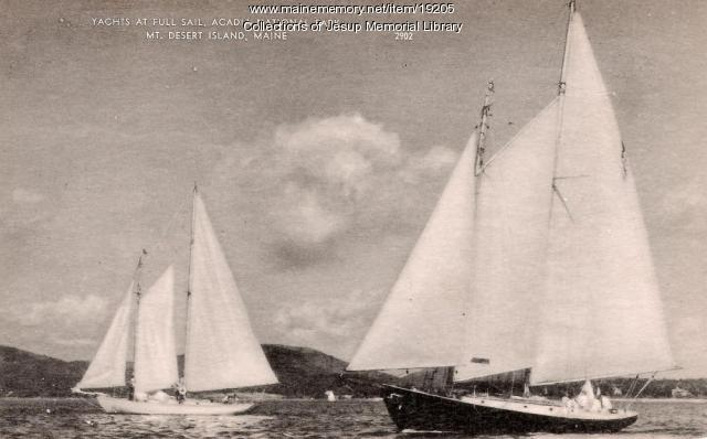 Yachts, Mt. Desert Island, ca. 1900