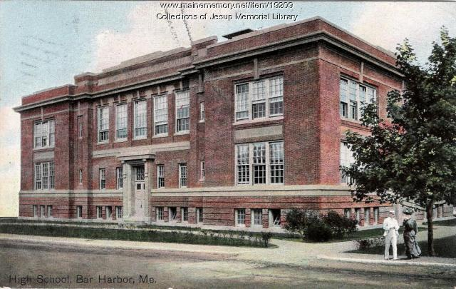 High School, Bar Harbor, ca. 1909