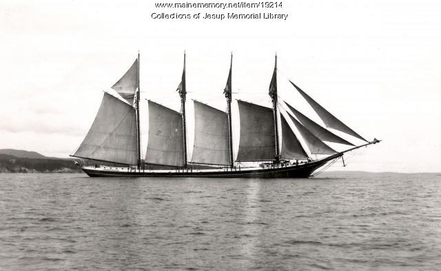 Windjammer Off the Coast of Mount Desert Island