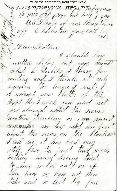 John M. Dillingham to his mother, June 12, 1863