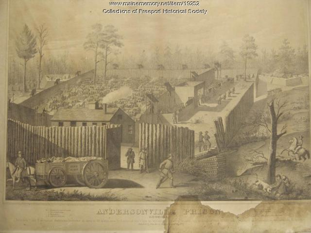 Andersonville Prison, J.B. Walker, lithograph
