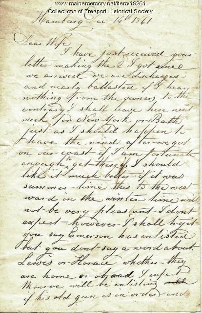 John G. Dillingham to Margaret Dillingham, December 14, 1861