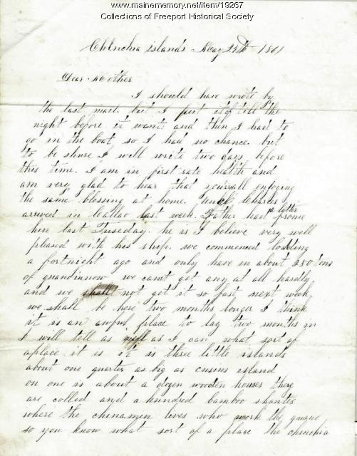 Capt. John G. Dillingham to his wife, June 27, 1861