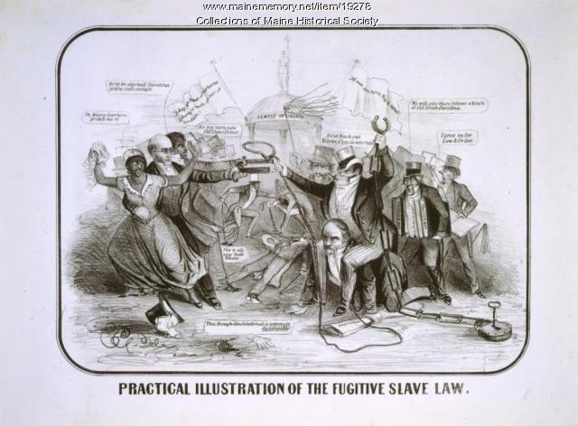 Fugitive Slave Act cartoon, 1851