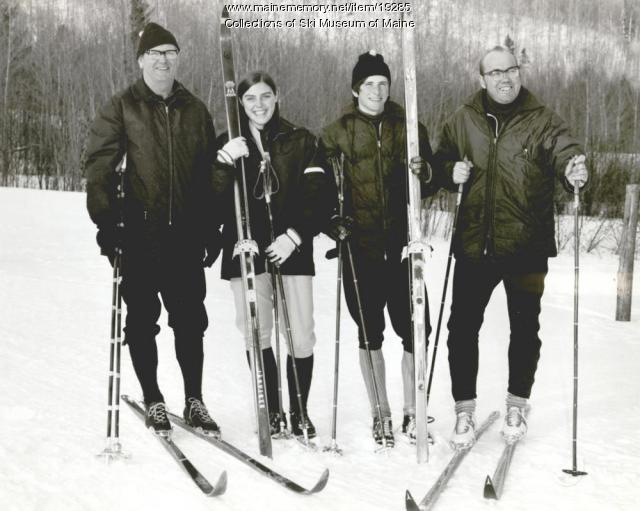 Champion skiers and coaches, Rumford, ca. 1965