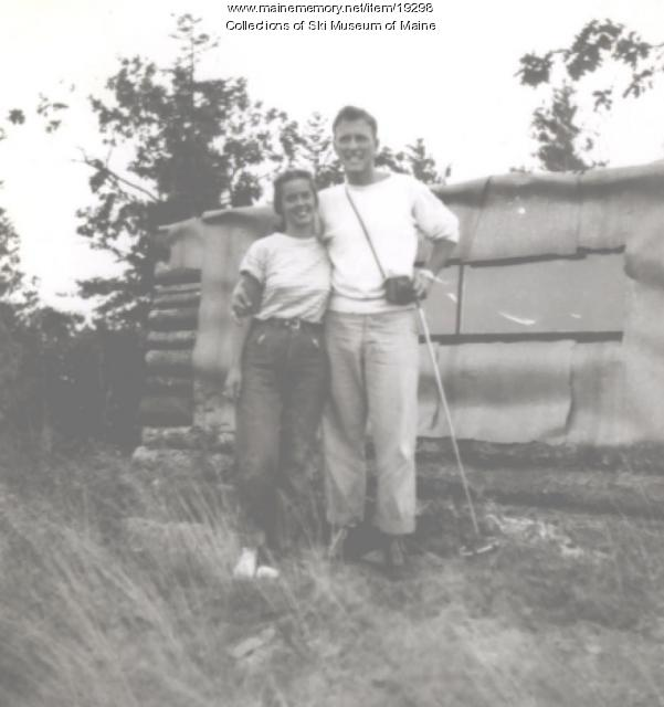Norma and Tom Bennett, Pleasant Mountain, ca. 1950