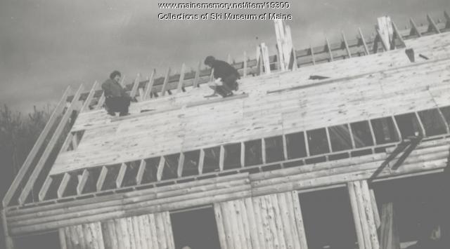 Down East Ski Club lodge, Pleasant Mountain, 1951