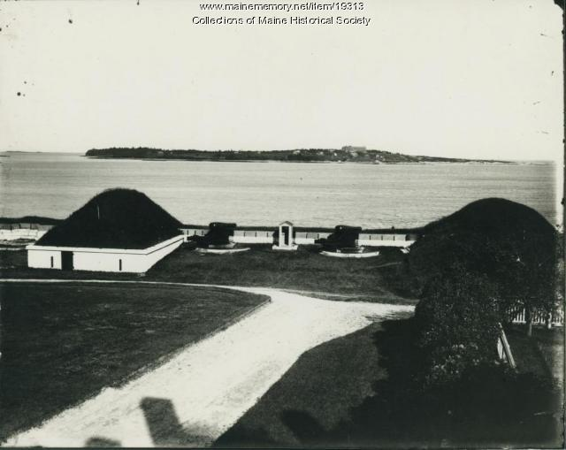 Cushing's Island from Fort Preble, ca. 1900