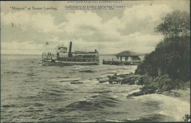 Maquoit ferry, Chebeague Island, 1915