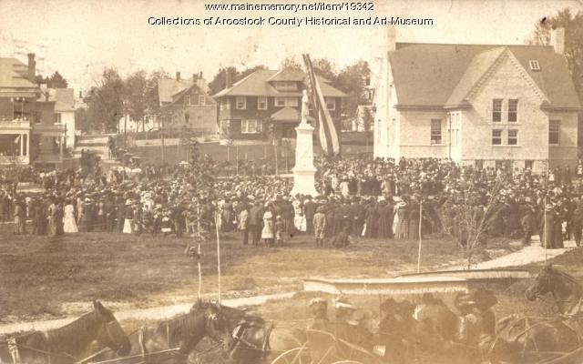 Dedication of Civil War Memorial, Houlton, 1909