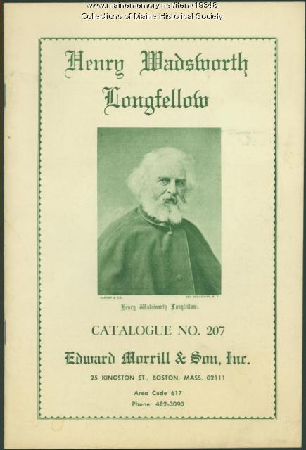 Catalog of Longfellow items, Boston, 1966
