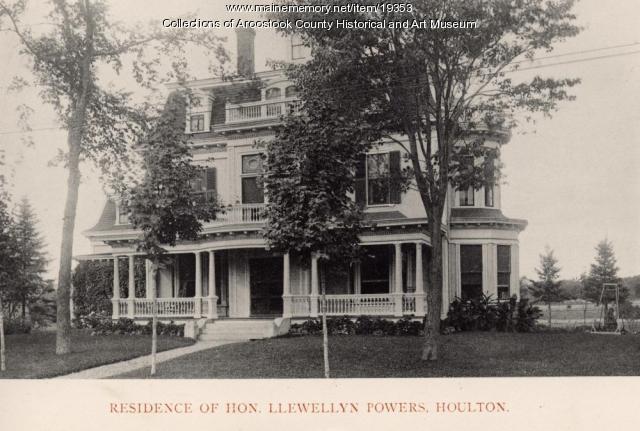 Llewellyn Powers home, Houlton, 1895