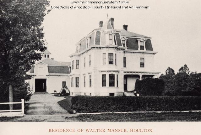 Walter Mansur house, Houlton, 1895