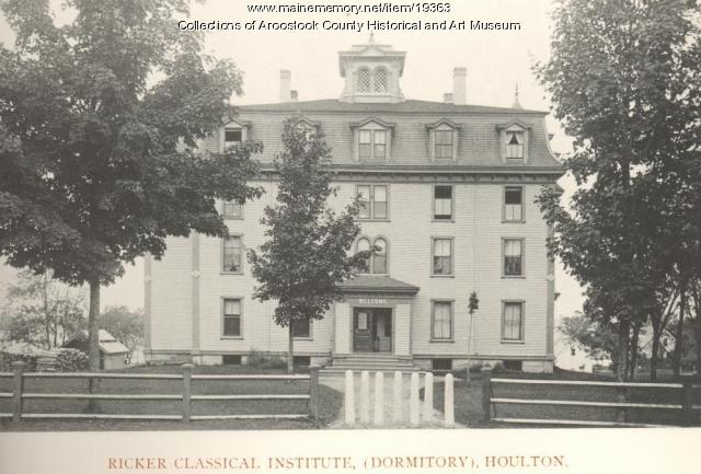 Ricker Classical Institute dormitory, Houlton, ca. 1895