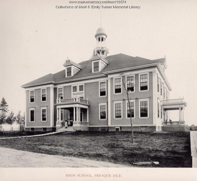 Academy School, Presque Isle, 1895