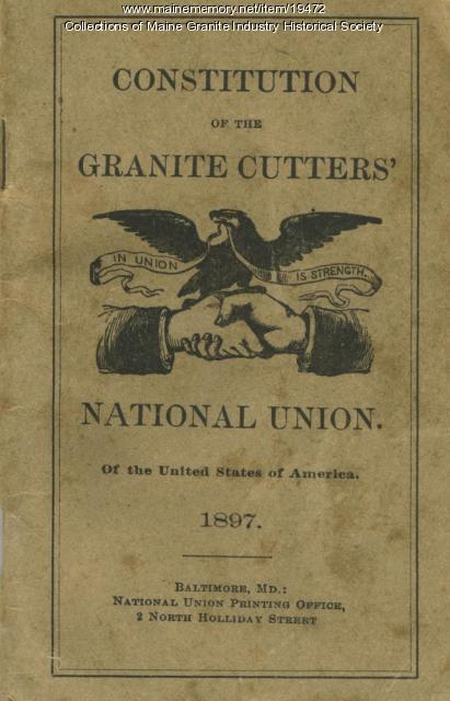Granite Cutters National Union Constitution
