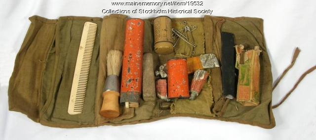 WW I soldier's grooming kit, Stockholm, ca. 1918