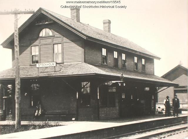 Bangor and Aroostook Railroad Station, Stockholm, ca. 1935