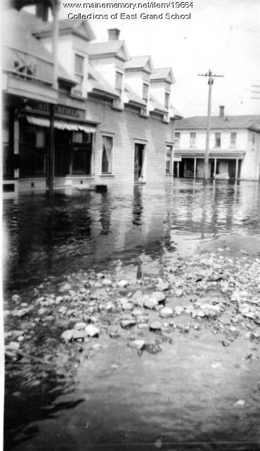 Downtown Danforth after the flood in 1923