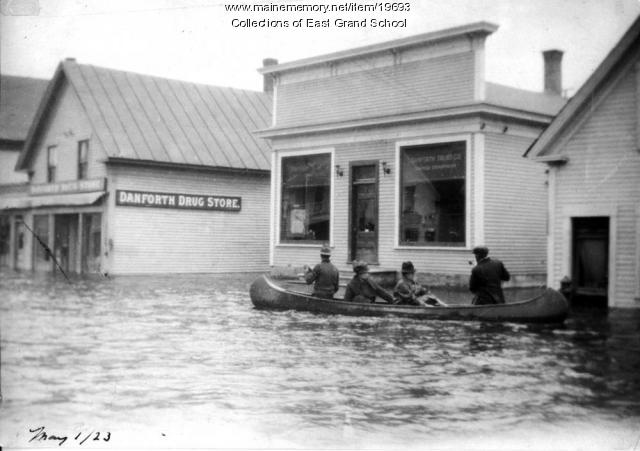 Canoe in 1923 Danforth flood