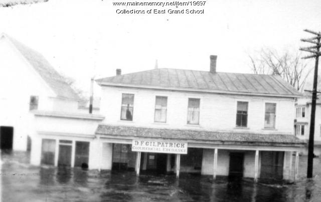 D.F Gilpatrick building in floodwaters, 1923