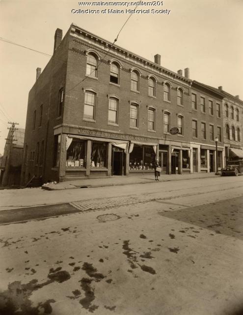 CMP storefront, Rockland, 1930