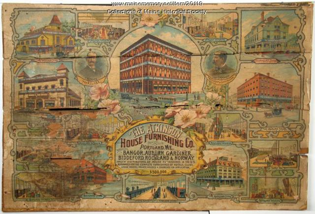 Atkinson House Furnishing Co. advertisement, ca. 1890