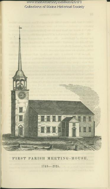 First Parish meeting house, Portland, ca. 1821