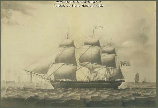 St. Leon merchant ship, Castine, 1835