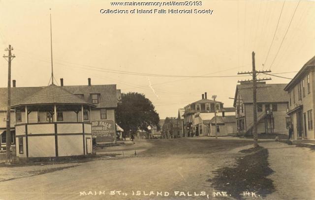 Main Street, Island Falls,  1925