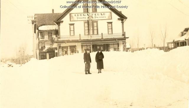 Pettengill's Hall, Island Falls, ca. 1930