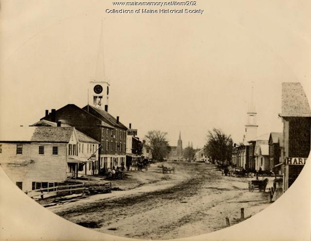 Maine Street, Brunswick, ca. 1870