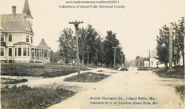 Sherman Street, Island Falls, ca. 1900