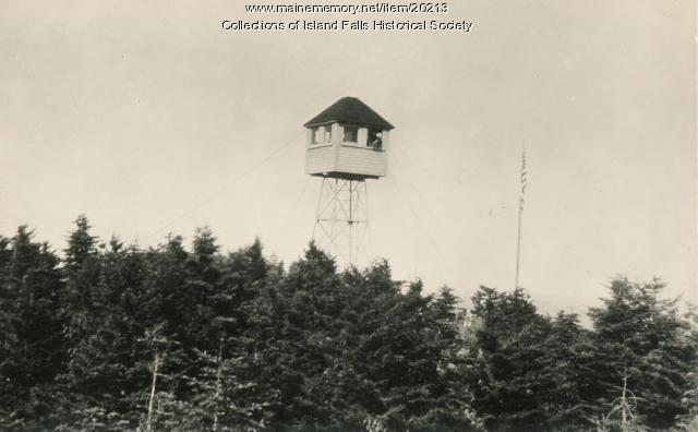 Lookout on Mount Chase, Mount Chase, ca. 1920