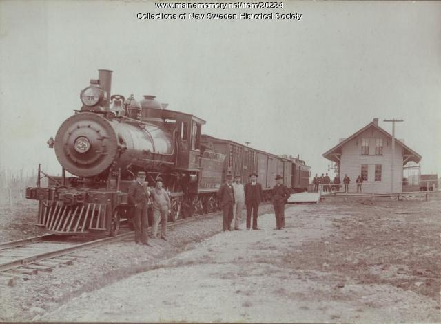 Bangor & Aroostook Railroad Station, New Sweden, ca. 1930