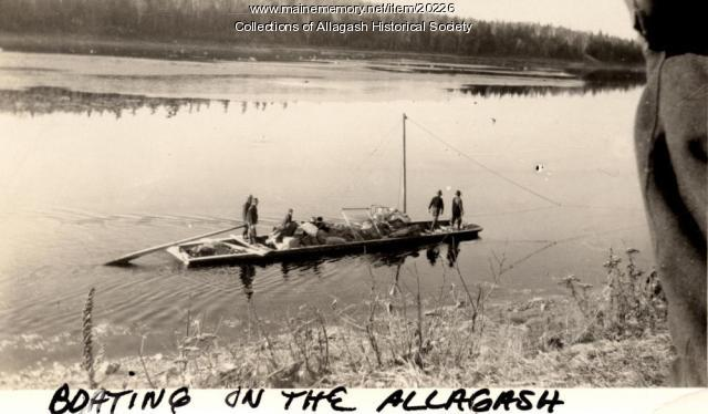 Flat Bottom Boat, St. John River, ca. 1930