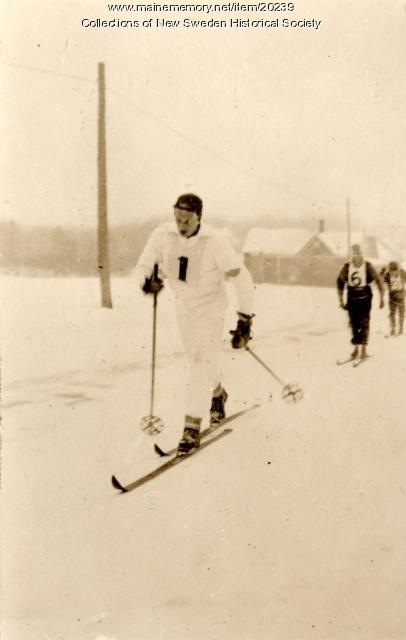 Ski racer, New Sweden, ca. 1935