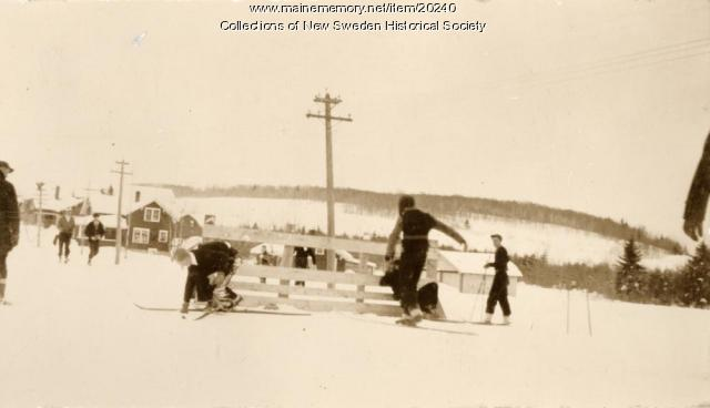 Winter Carnival Ski Race, New Sweden, ca. 1935